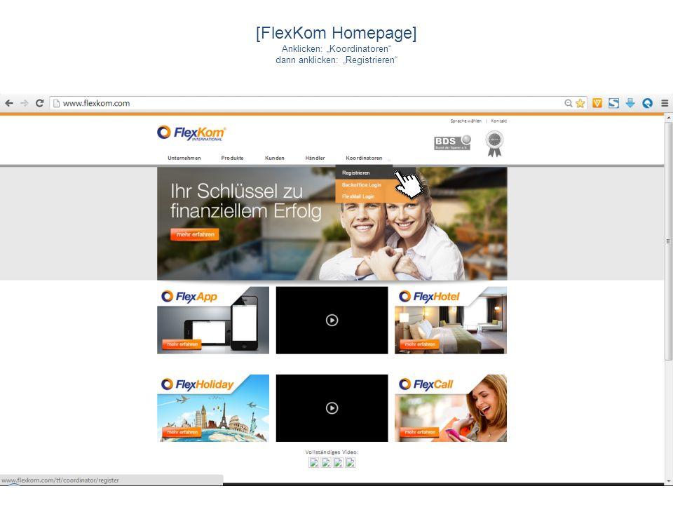 "[FlexKom Homepage] Anklicken: ""Koordinatoren"